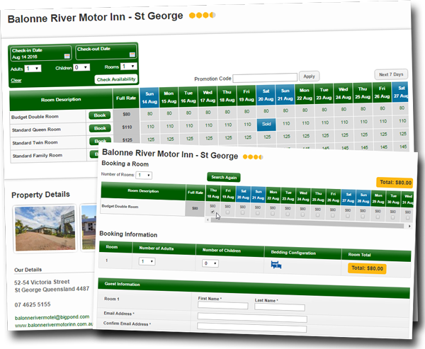 Book Accommodation Online at Balonne River Motor Inn - St George.